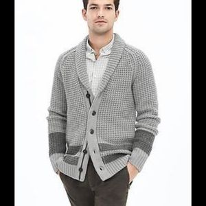 BR Heritage Collection Waffle Knit Shawl Cardigan